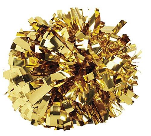 Pizzazz POM6M - Metallic Pom Pom (Metallic Gold) from Pizzazz Performance Wear