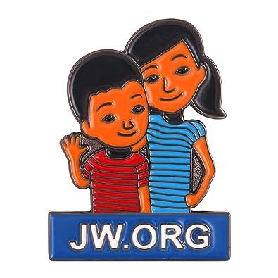 amazon com 2 pack of jw org caleb and sophia lapel pin jewelry