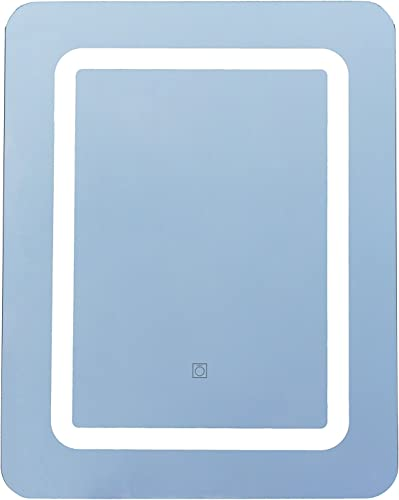 Lulu Decor, LED Lighted Rectangle Wall Mounted Mirror for Vanity Bathroom Vertical or Horizontal 24 x 32