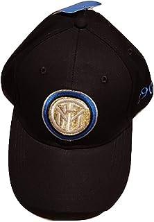 sfiziosa Inter cappello cappellino con visiera Colore nero con stemma  ricamato misura regolabile 23bfbc9253dc