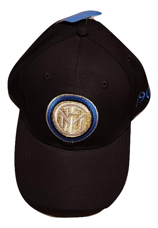 sfiziosa Inter cappello cappellino con visiera Colore nero con stemma  ricamato misura regolabile perseo c0073b65191c