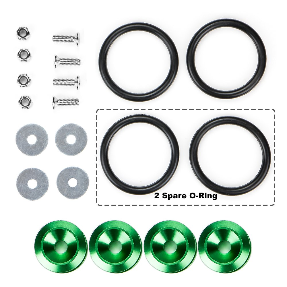 Rolling Gears JDM Quick Release Fasteners Front Rear Bumpers Trunk Hatch Lid Kit Neo Chrome