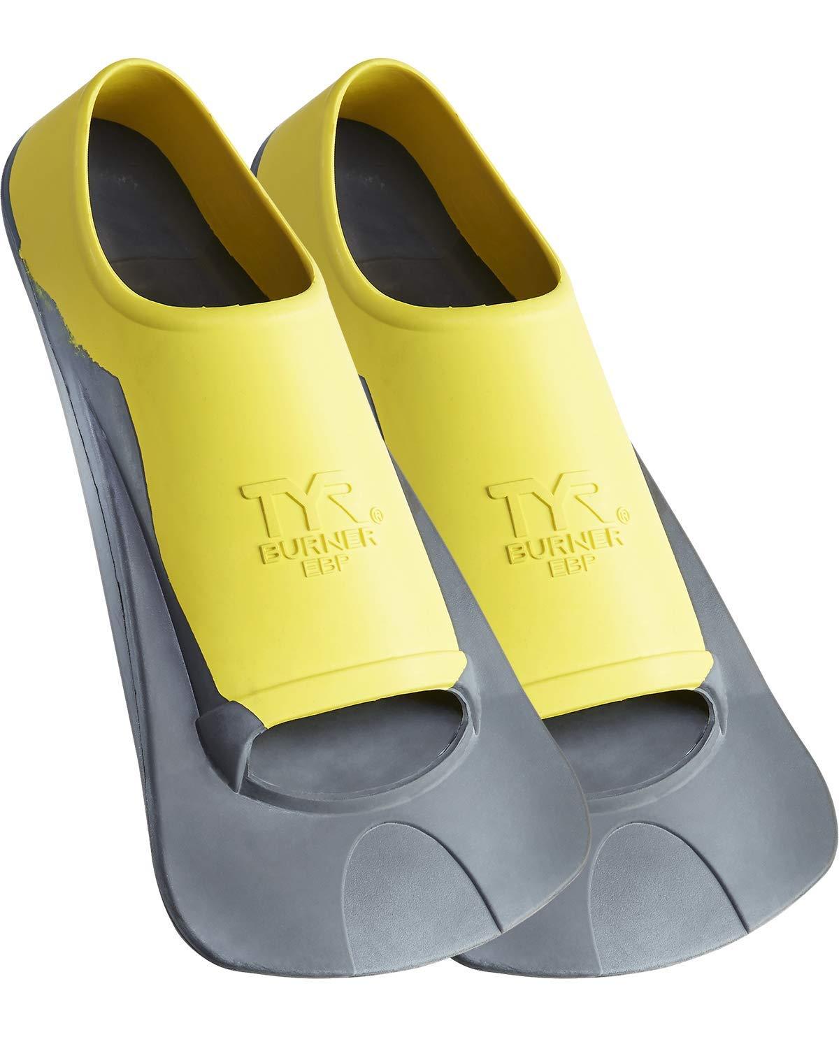 TYR SPORT EBP Burner Fin, Medium, Yellow/Black