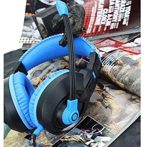 LILINA Bluetooth Headset Lightweight, Hi-Fi Stereo Wireless Headset, Foldable Headset, Built-In Microphone And Wired Mode, Esports Gaming Karaoke Headset Desktop Headset With Microphone,Blackblue by LILINA (Image #1)