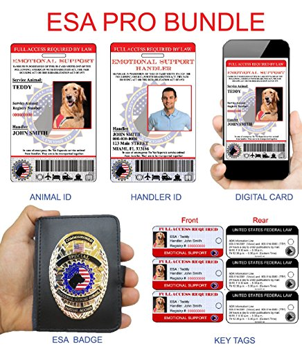 XpressID Emotional Support Animal Pro Bundle | Includes Registration to National Dog Registry by Xpress ID