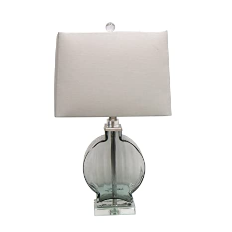 Elegant Jeco 24 Inch Table Lamp With Clear Glass Base
