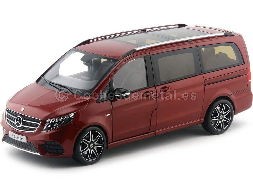 2017 Mercedes-Benz Monovolumen Clase V Rojo Jupiter 1:18 Norev B66004166 Cochesdemetal.es