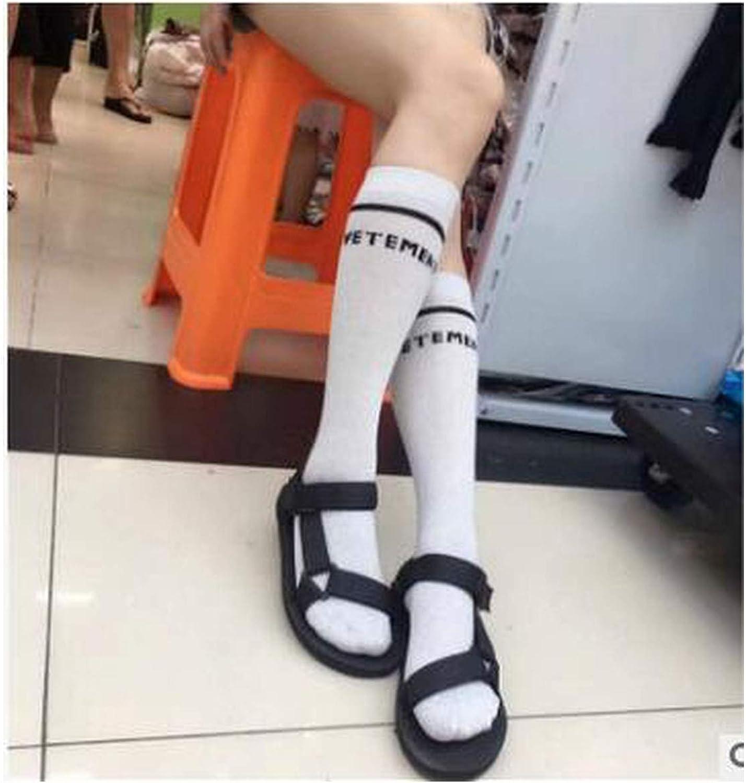 Thicken Warm Fuzzy Socks Letter Print Oversize Knee Socks Women Autumn Winter Cotton Warm Socks