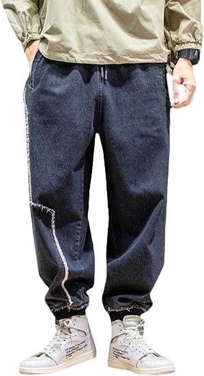 [ShuMing]デニムパンツ メンズ ジョガーパンツ 九分丈 ゆったり テーパードパンツ デニム カジュアル ジーンズ サルエル ストリート系 ジーパン 大きいサイズ 秋 冬