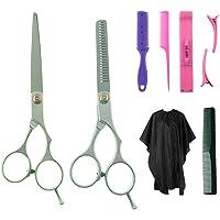 8 piezas kit profesional de tijeras de peinado de pelo, herramientas de peluquería, con peine de pelo, capa, tijeras de…