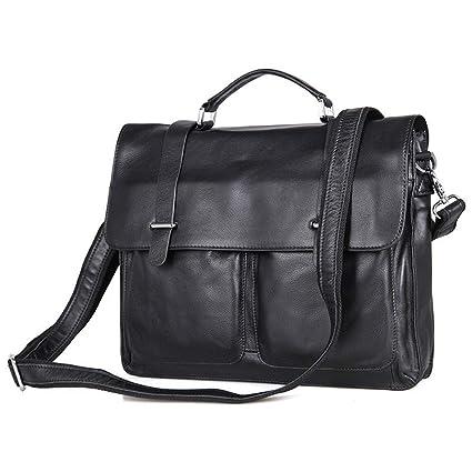 AFCITY maletín para Ordenador portátil Cartera de Cuero Vintage 12 13 13.3 Pulgadas Maletín Laptop Bag