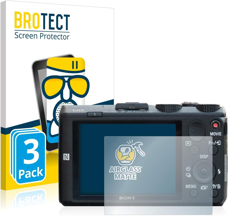 3 Pi/èces brotect Anti-Reflet Protection Ecran Verre Compatible avec Sony Cyber-Shot DSC-HX60 - Film Protecteur Vitre 9H Mat
