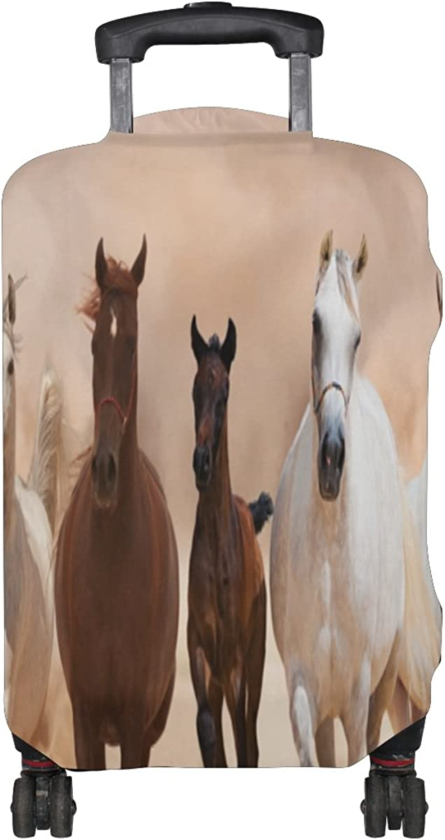 GIOVANIOR Horses Running On The Sand Storm Luggage Cover Suitcase Protector Carry On Covers