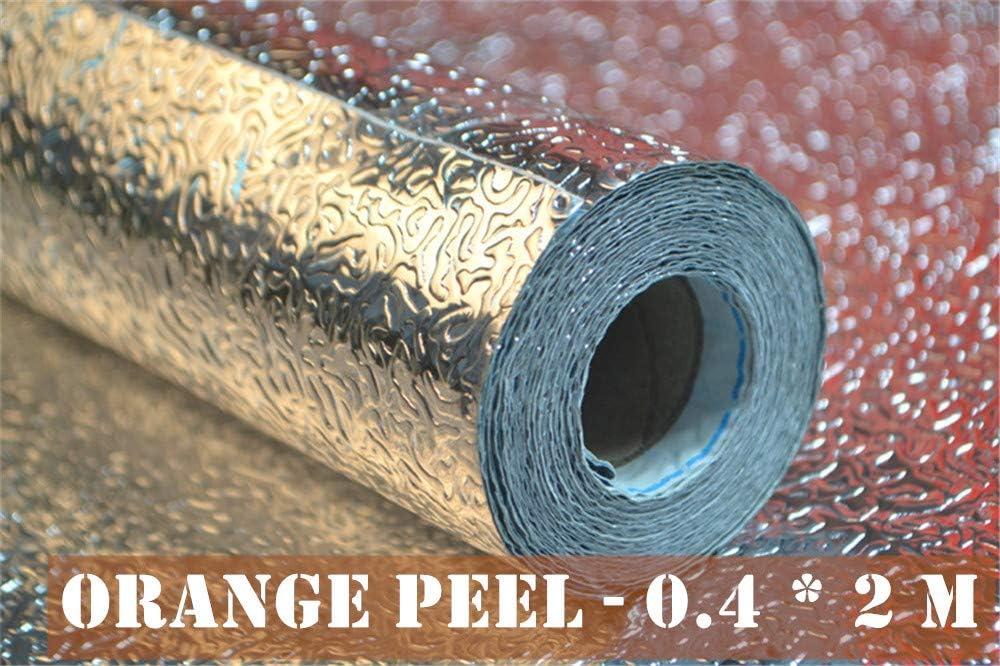 Orange Peel - 0.4 * 5 m Autocollant De Cuisine /à l/Épreuve lhuile Aluminium Feuille Maison Papier Peint Imperm/éable /à leau Po/êle Auto-Adh/ésif Splash Papier Peint Sans Colle R/ésidu Autocollant