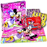 Disney Minnie Mouse Giant Floor Puzzle for Kids (3 Foot Puzzle, 46 Pieces-- Bonus Minnie Mouse Stickers)