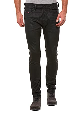 3d23e857 Amazon.com: Diesel Mens Stretch Jeans Tepphar 0663Q Black (28/32 ...