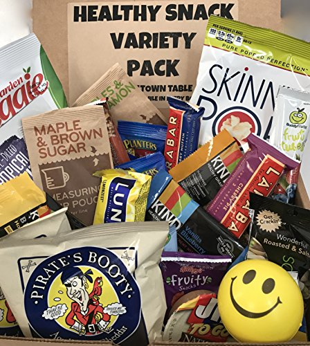 Healthy Snacks Care Package Fitness Variety Pack Assortment (30 Count) Healthier Choices Snack Pack College, Office, Military, Diet Non-GMO Gluten Free (Good College Care Package Ideas)