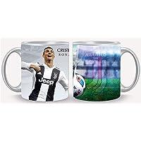 white mug with Cristiano Ronaldo Juventus team