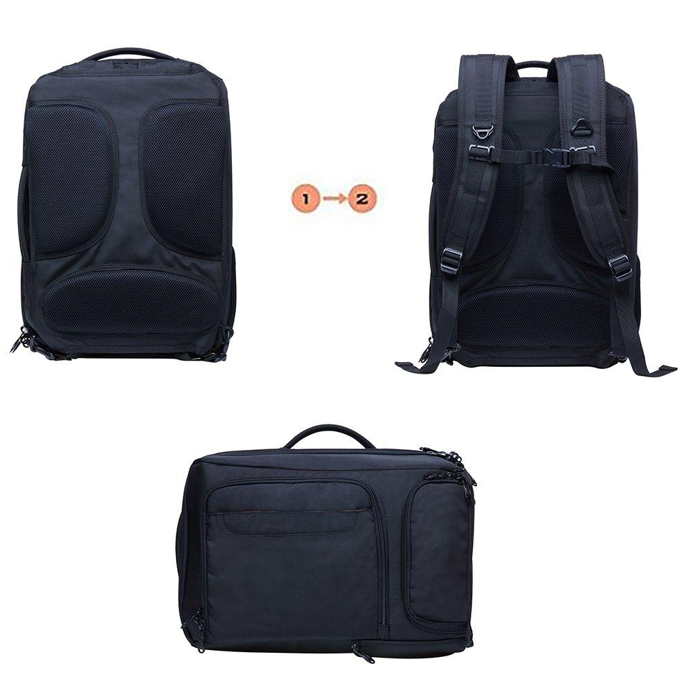 KAUKKO Laptop Outdoor Backpack, Travel Hiking& Camping Rucksack Pack, Casual Large College School Daypack, Shoulder Book Bags Back Fits 15'' Laptop & Tablets (4Black) by KAUKKO (Image #6)