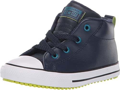 Converse Kids' Chuck Taylor All Star Leather Street Mid Top Sneaker Boot