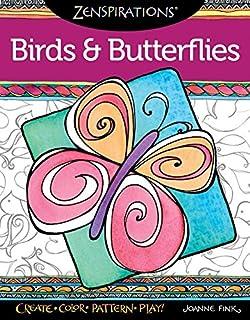Zenspirations Coloring Book Birds Butterflies