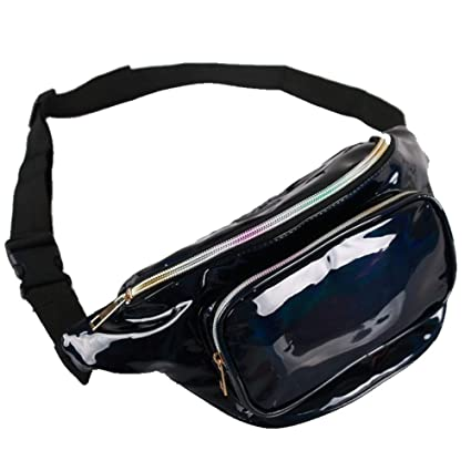 9cb2663ac922 Amazon.com: Holographic Fanny Packs for Women - Festival Waist Pack ...
