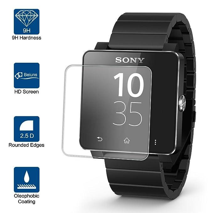 Beiuns Vidrio Templado Protector de Pantalla para Sony SmartWatch ...