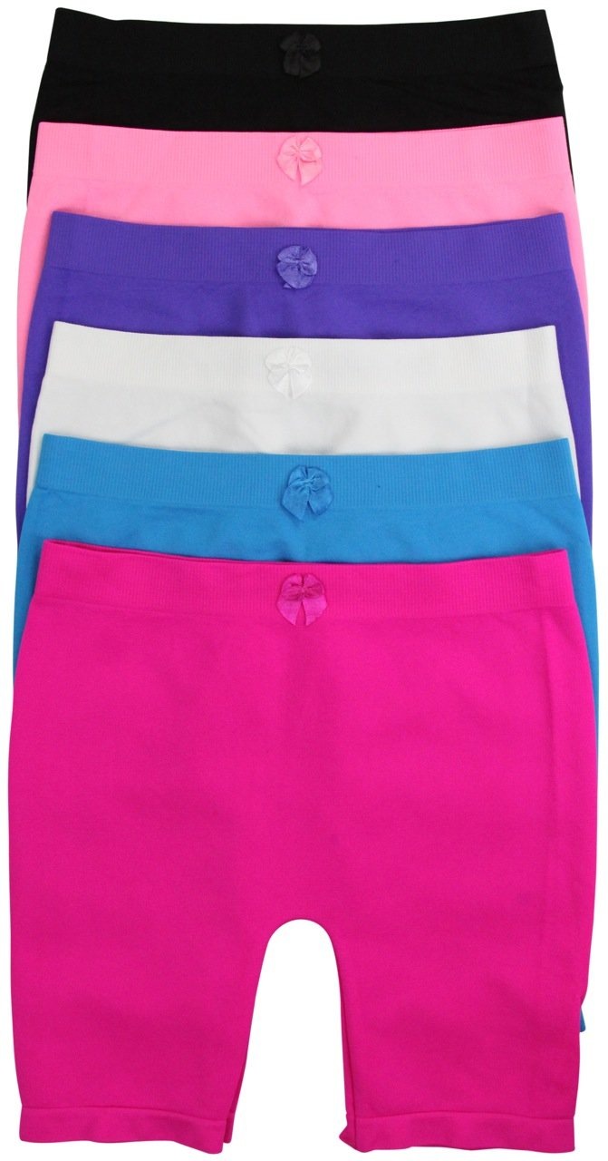ToBeInStyle Girl's Pack of 6 Long Boyshorts (Large, SLBG184L)