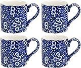 Burleigh Blue Calico Mugs 10.5oz (Set of 4)