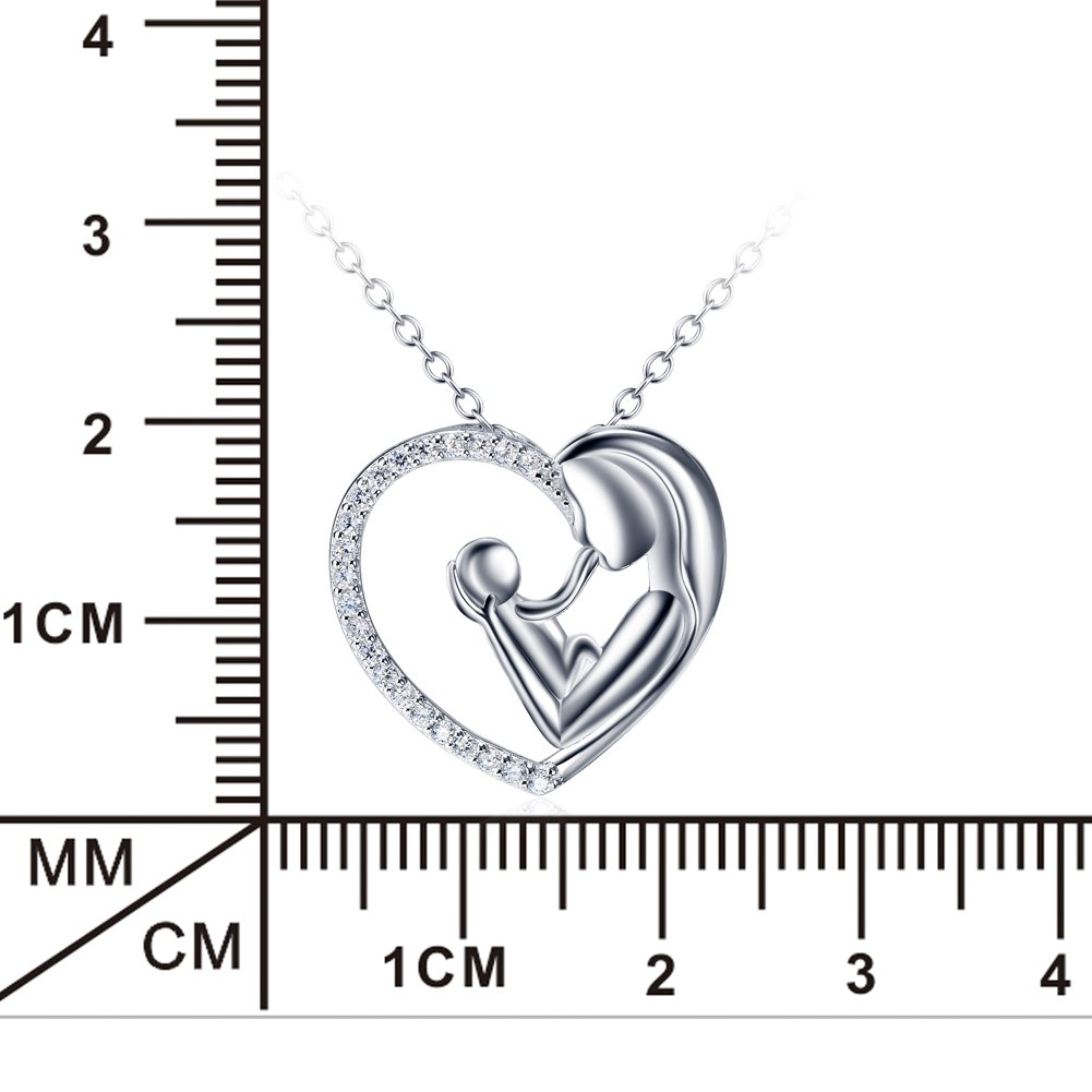 YFN Mother and Child Infinity Love A Mothers Love is Forever Sterling Silver Pendant Necklace,18