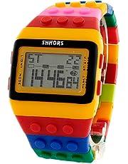 Reloj SHHORS Digital Unisex Bloque con múltiples funciones para niño o adulto. Diferentes y divertidos Modelos.