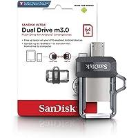 SanDisk 64GB Ultra Dual Drive USB 3.0 Bellek, Android ve PC uyumlu - SDDD3-064G-G46