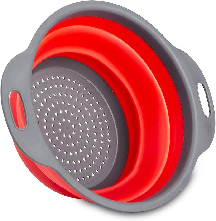 colador de silicona lovechef Colador plegable di/ámetro de 24/cm//20/cm paquete de dos