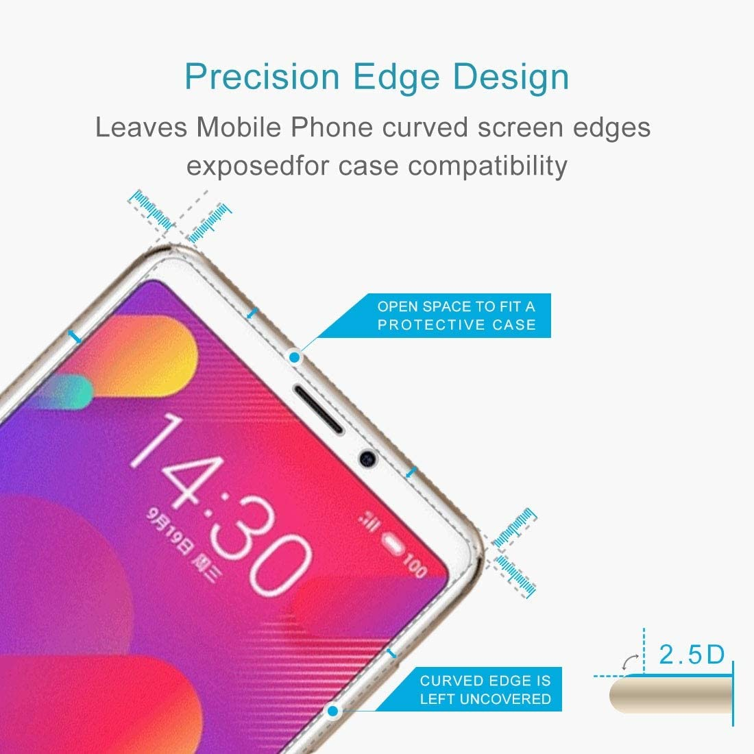 GzPuluz Glass Protector Film 50 PCS for Sony Xperia XZ Premium 0.26mm 9H Surface Hardness Explosion-Proof Non-Full Screen Tempered Glass Screen Film No Retail Package