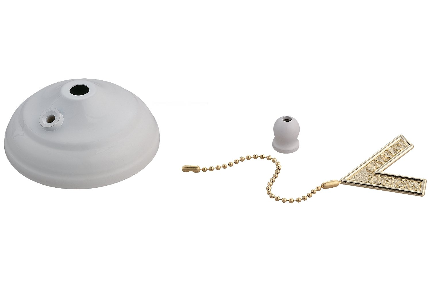 Monte Carlo MC83WH Ceiling Fan Pull Chain Type Bowl Cap Kit, White