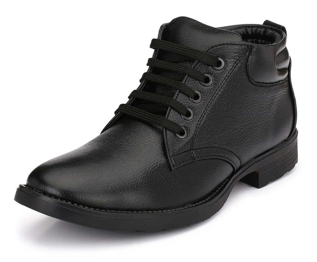 Mens Boots for Work Fashion Chelsea Cowboy Hiking Biker Millitary Dress Boots Oxford Boots Mid Ankle Boots for Men (9, Black)