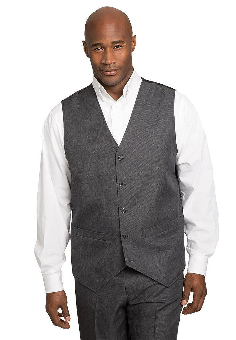 KingSize Mens Big /& Tall Easy Movement 5 Button Suit Vest Ks Signature