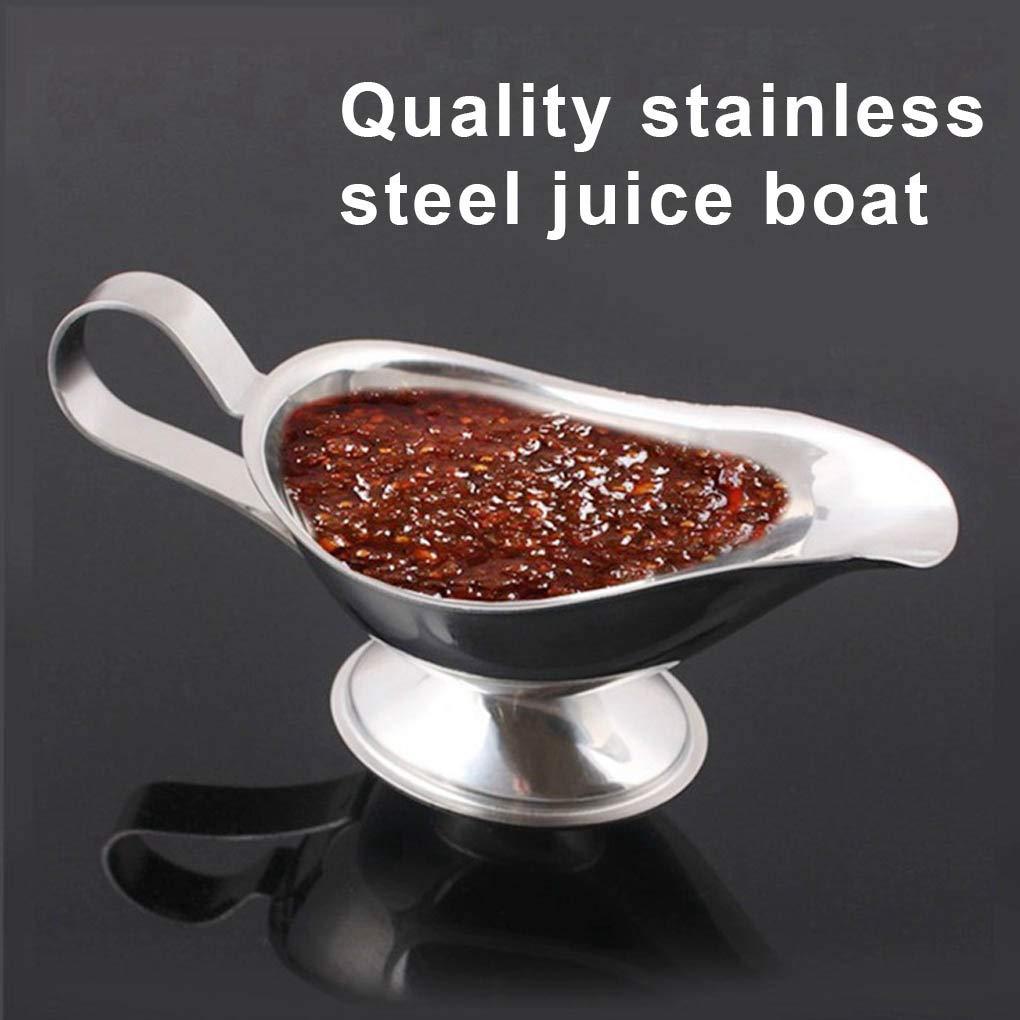 Rekkles Gravy Boat Stainless Steel Juice Bucket Dish Roasting Sauce Vinegar Pepper Serving Container Pouring Tool