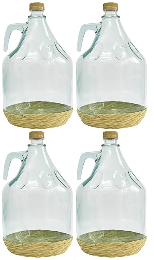4er SET de vidrio con forma de botella de vidrio forma de globo de cristal de