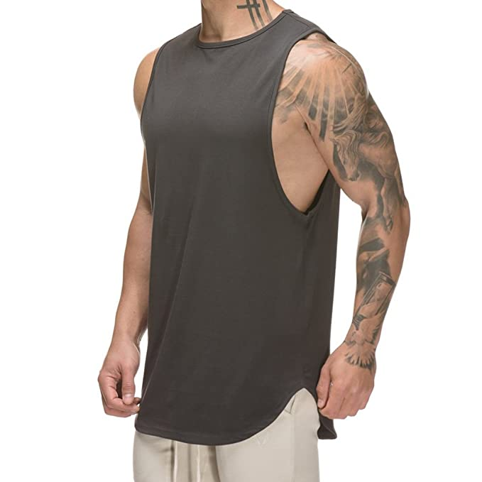 dd059dbfc97f5 Amazon.com  Magiftbox Mens Muscle Tanks Workout Gym Tank Tops Fitness  Training Sweatshirts for Men  Clothing