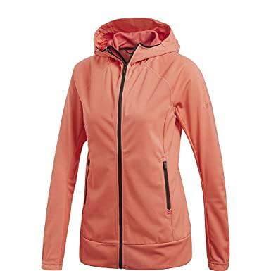 9535494e5170 adidas Sport Performance Women s Stretch Softshell Jacket, Trace Scarlet,  ...