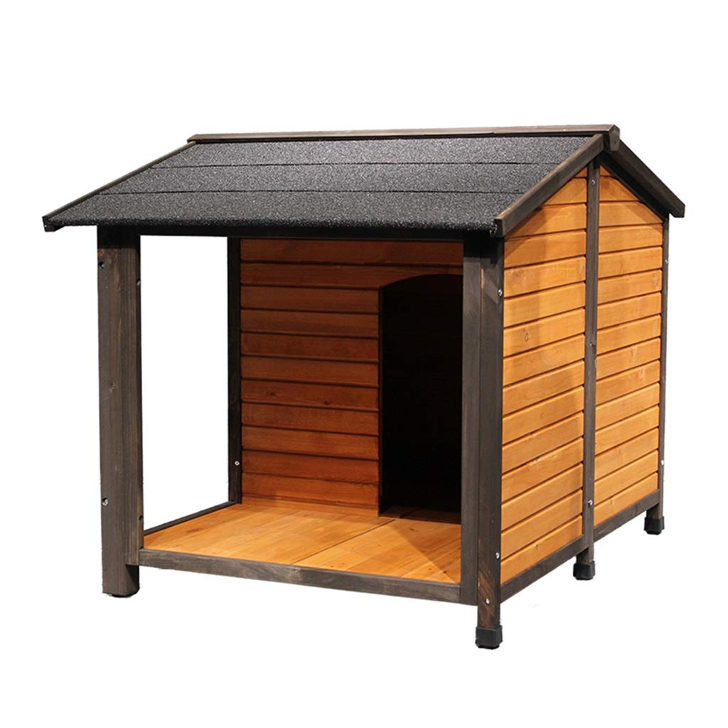 Brown 739170cm Brown 739170cm Kennels Dog Houses Pet House Dog Cage Cat House Outdoor Garden Solid Wood Dog House Rain Sun Predection Cat Cage Home Indoor Dog House Cat House Washable Send Pet Gift Kennels Dog Houses