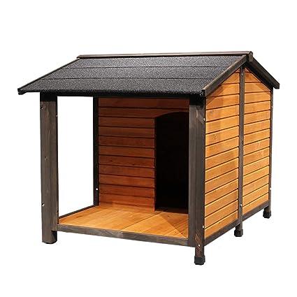 Casetas para perros Casa Para Mascotas Jaula Para Perros Casa Para Gatos Jardín Exterior De Madera ...