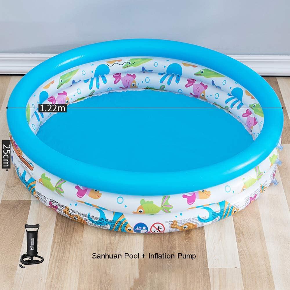Piscina hinchable infantil,material de PVC de protección del medio ambiente,bolsa de aire en capas independiente,altura ajustable,inflación rápida,fácil almacenamiento,piscina portátil en verano