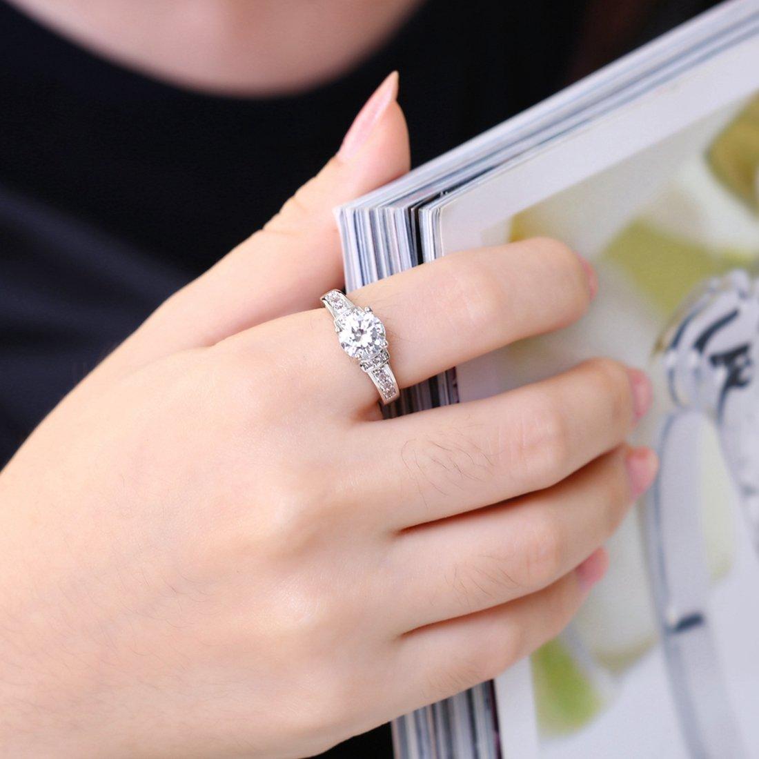Amazon.com: [Eternity Love] Women\'s Pretty 18K White Gold Plated ...