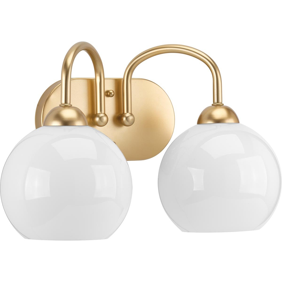 Progress Lighting P300085-078 Carisa Two-Light Bath, Vintage Gold