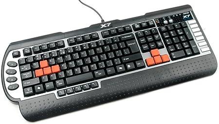 A4Tech X7-G800V-DE - Teclado (USB, PC/Server, Juego, Negro ...