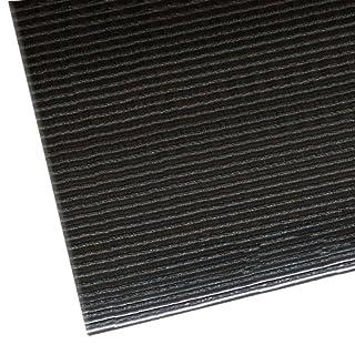 """NoTrax 406 Razorback Anti-Fatige Mat with Dyna-Shield PVC Sponge, 2' Width x 3' Length x 1/2"""" Thickness, Black"""