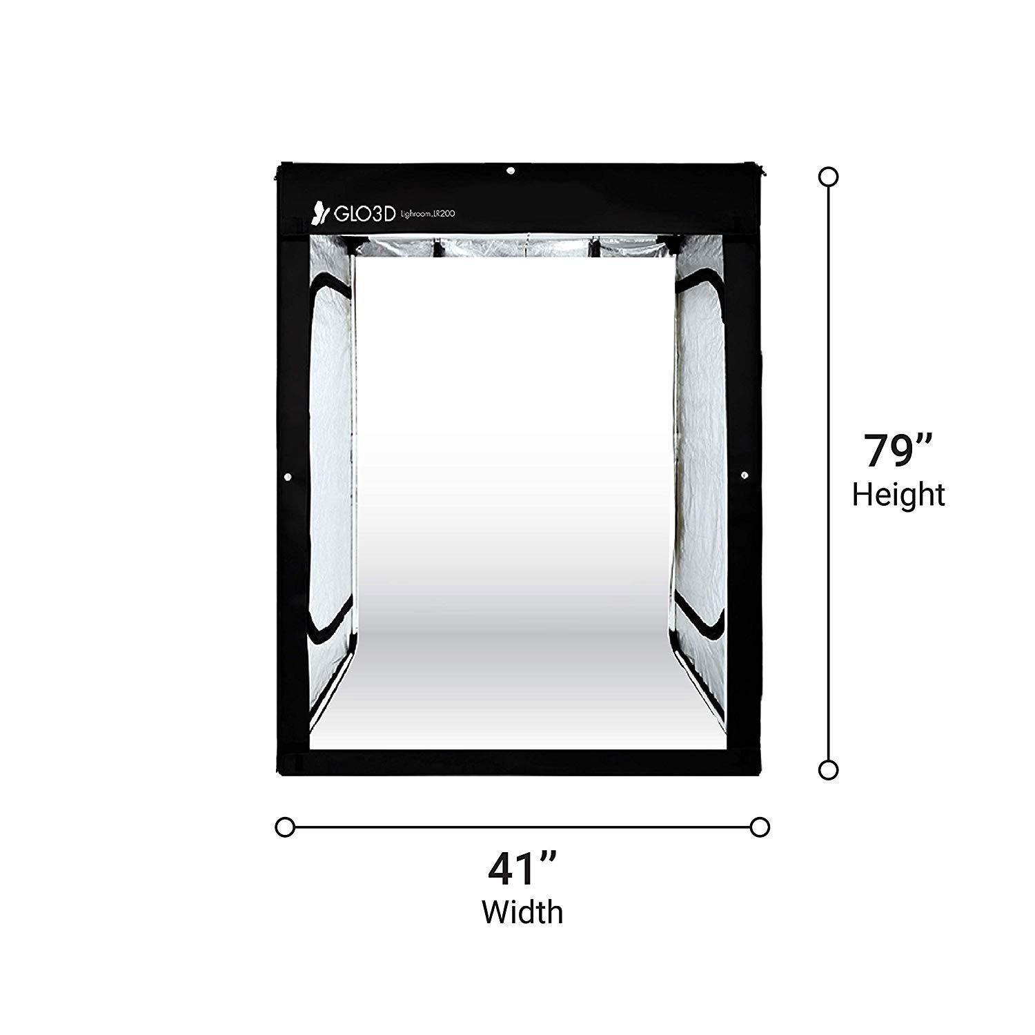 Glo3D LB200 Foldable Photo Studio Lightbox - 41''x 79'' Portable LED Photography Tent for Clothes & Models and Many More by Glo3D