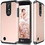 LG K20 Plus Case, LG K20 V Case, LG Harmony Case, LG Grace 4G LTE Case, TJS Ultra Thin Slim Hybrid Shockproof Impact Rugged Case Armor Cover For LG K20 Plus/Harmony/K20 V/Grace 4G LTE (Rose Gold)